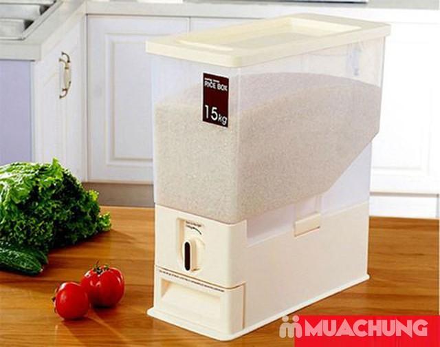 Thùng đựng gạo thông minh Dispenser 15kg - 18