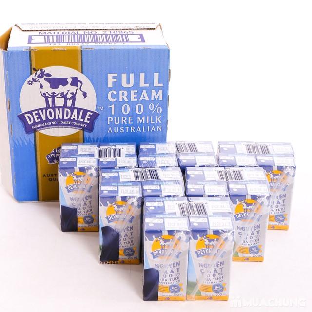 1 thùng 24 hộp sữa 200ml Devondale full cream - 4