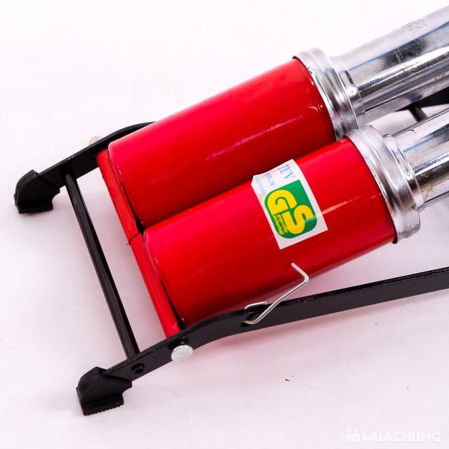 Bơm hơi đạp chân 2 pittong Hando - 15