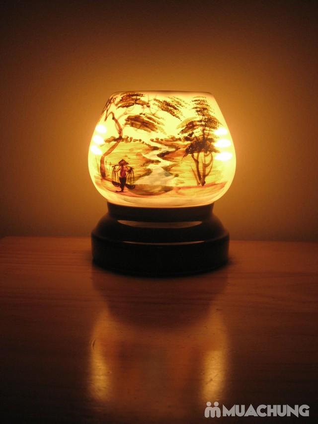 Đèn xông tinh dầu cắm điện sứ Bát Tràng - 3