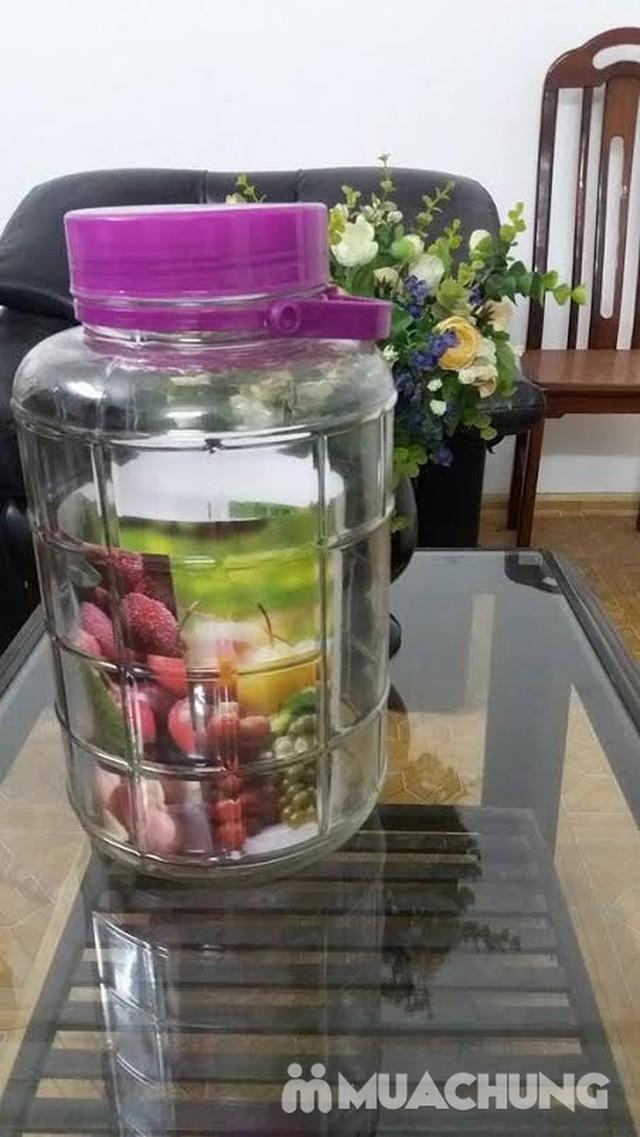 Lọ thủy tinh ngâm rượu, hoa quả 16 lít - 1