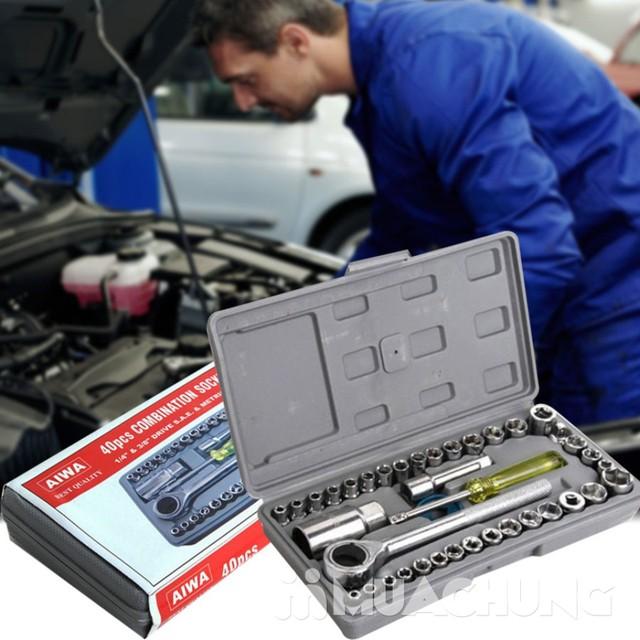 Bộ dụng cụ sửa chữa ô tô, xe máy 40 món tiện lợi - 1