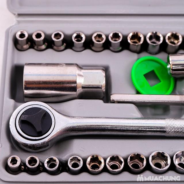 Bộ dụng cụ sửa chữa ô tô, xe máy 40 món tiện lợi - 4