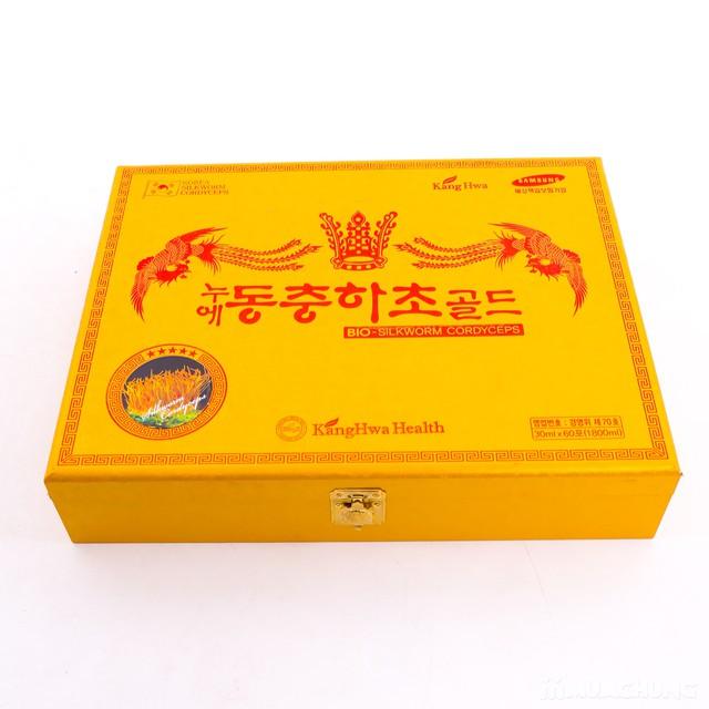 Nước đông trùng hạ thảo 60 túi Hàn Quốc hộp gỗ  - 7