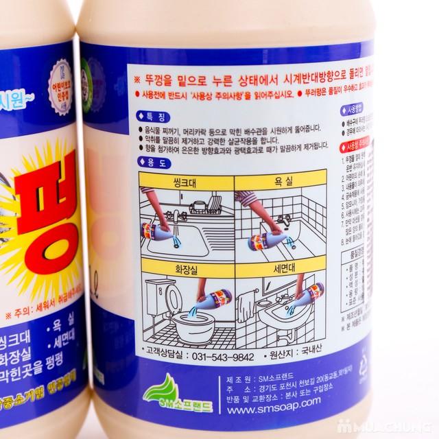 2 chai dung dịch tẩy rửa ống thoát nước Hàn Quốc - 7