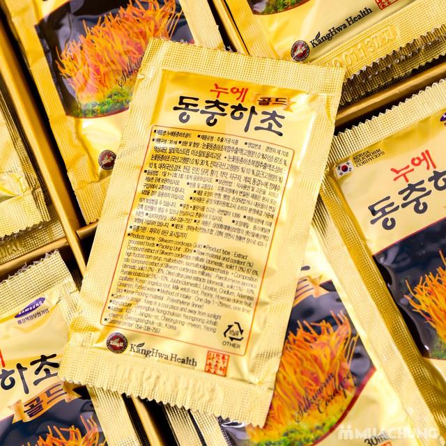 Nước đông trùng hạ thảo 60 túi Hàn Quốc hộp gỗ  - 16