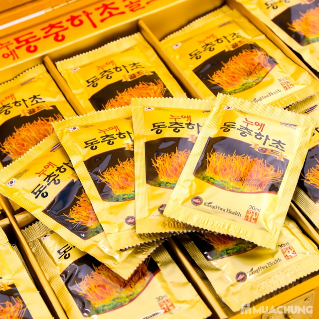 Nước đông trùng hạ thảo 60 túi Hàn Quốc hộp gỗ  - 15