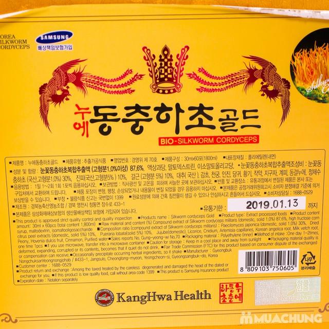 Nước đông trùng hạ thảo 60 túi Hàn Quốc hộp gỗ  - 12
