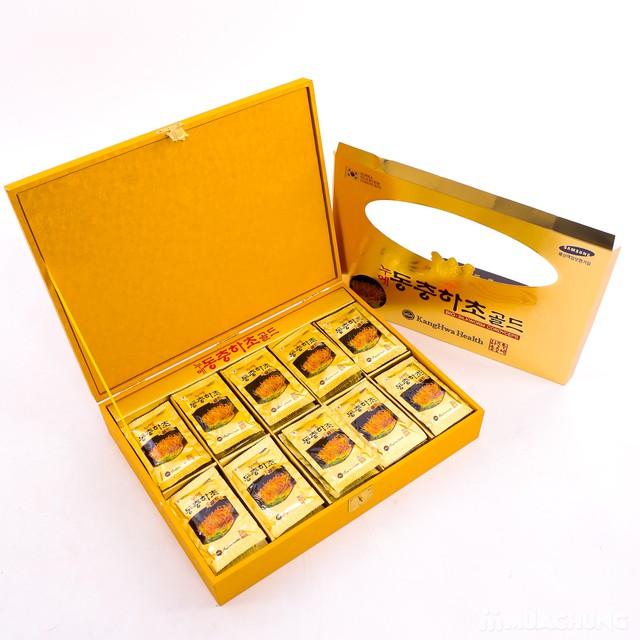 Nước đông trùng hạ thảo 60 túi Hàn Quốc hộp gỗ  - 6