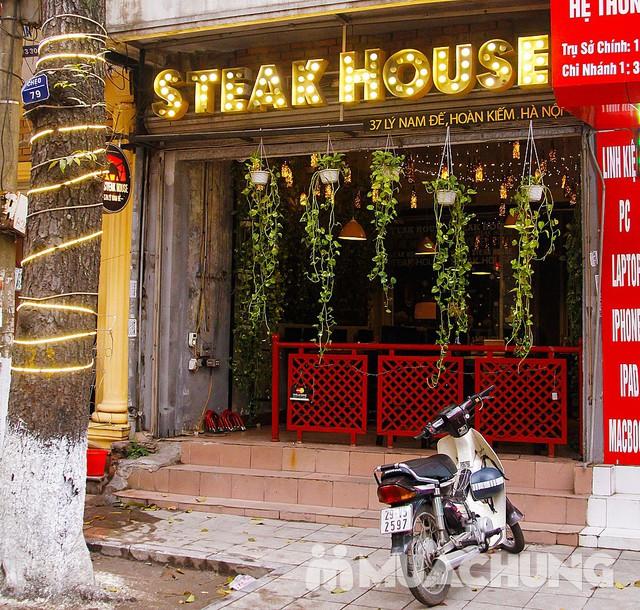 Siêu Bít tết nướng đá & Spaghetti kiểu Âu 2 người-NH Steak House - 15