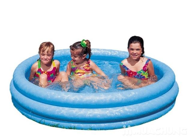Bể bơi Intex 58426 3 tầng màu xanh  - 5
