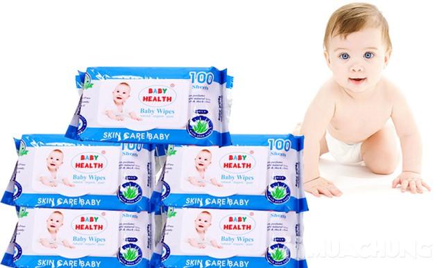 Combo 5 gói khăn ướt Baby Health loại 100 tờ - 2