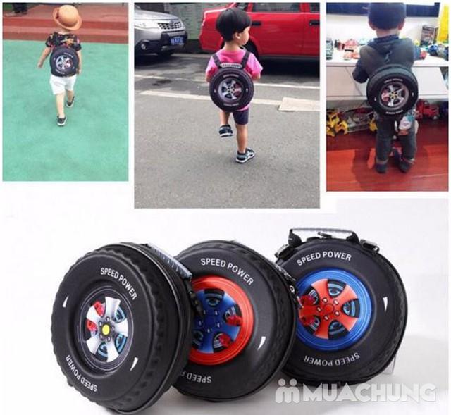 Ba lô hình bánh xe ngộ nghĩnh cho bé - 8