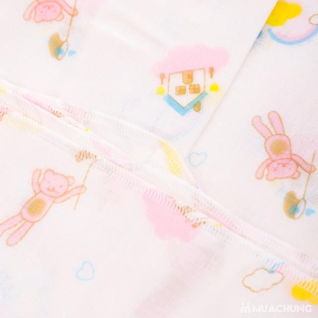 2 khăn tắm sơ sinh họa tiết 4 lớp- hàng xuất Nhật  - 5
