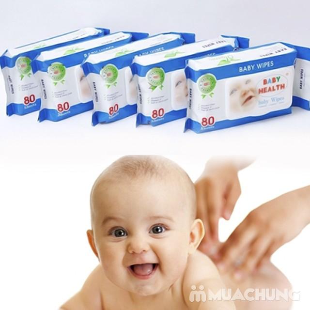 Combo 5 gói khăn ướt Baby Health loại 80 tờ - 4