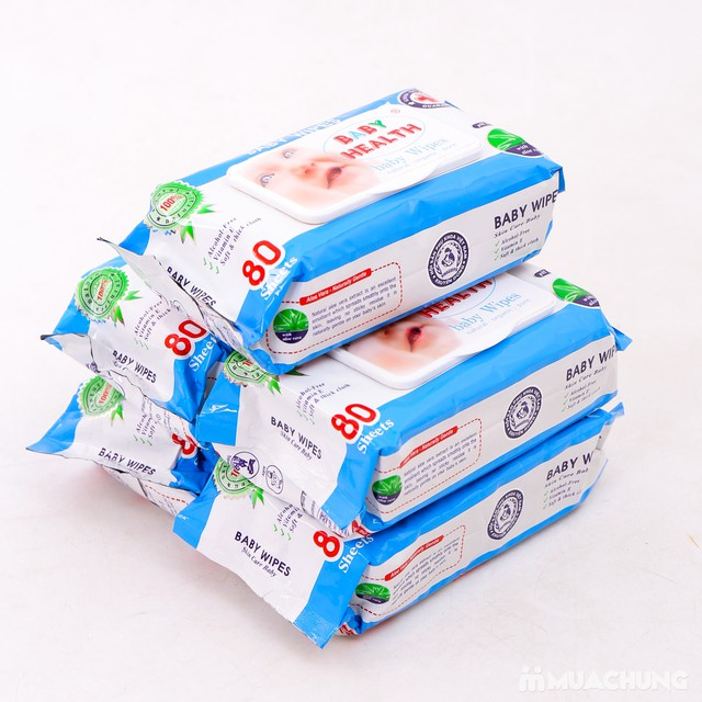 Combo 5 gói khăn ướt Baby Health loại 80 tờ - 6
