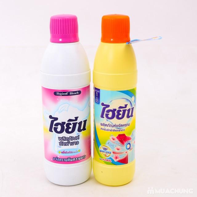 Combo 2 chai nước tẩy quần áo màu và trắng Hygiene - 4