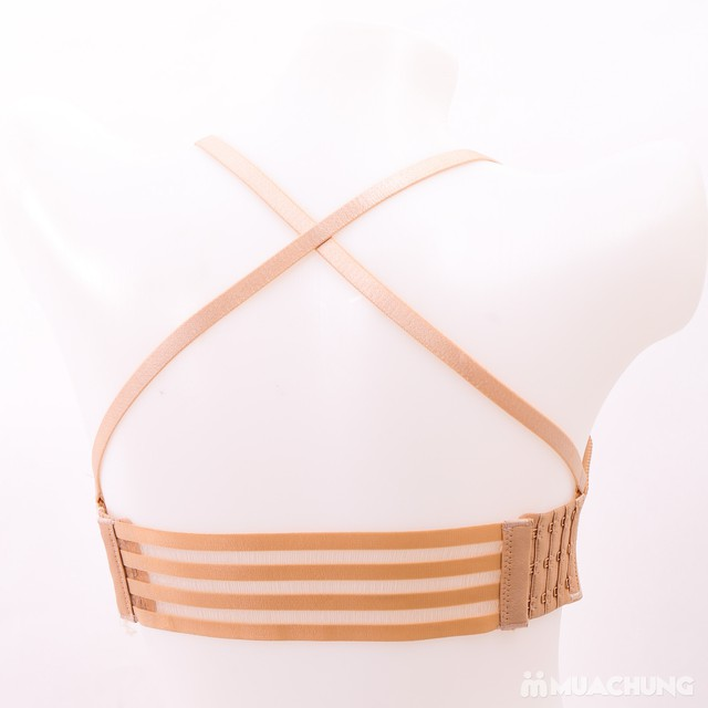 Áo lót đúc quai chéo sau, dây rút trước nâng ngực - 2