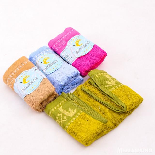 4 khăn mặt Bamboo 100% cotton mềm mại, an toàn - 3