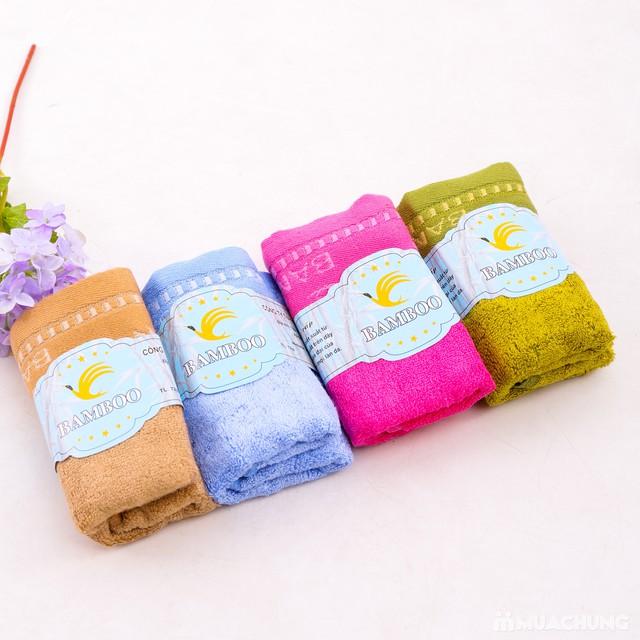 4 khăn mặt Bamboo 100% cotton mềm mại, an toàn - 1