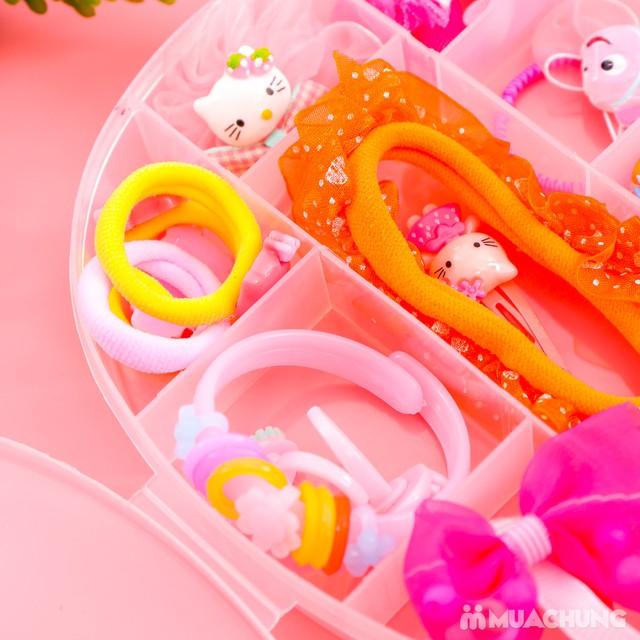 Hộp phụ kiện tóc Hello Kitty 20 món cho bé - 14