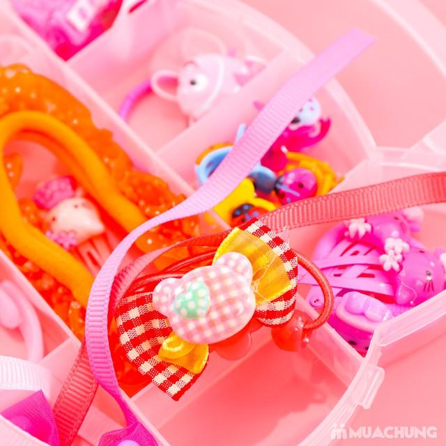 Hộp phụ kiện tóc Hello Kitty 20 món cho bé - 11