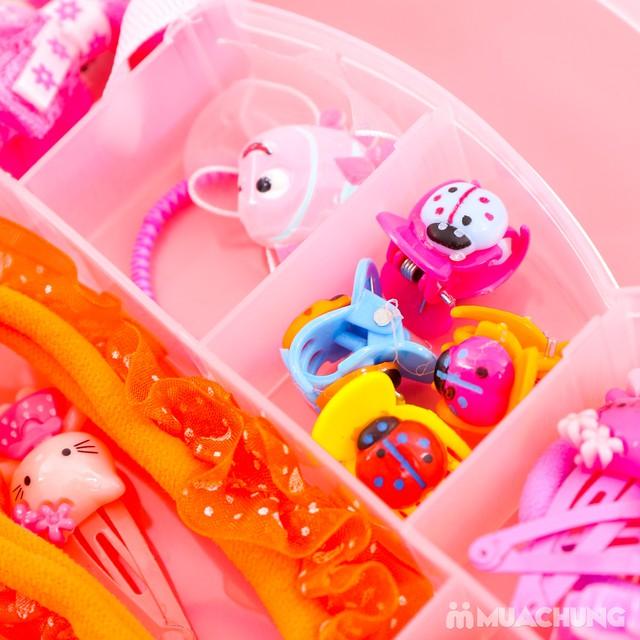 Hộp phụ kiện tóc Hello Kitty 20 món cho bé - 12