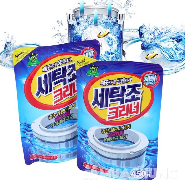 Bột tẩy vệ sinh lồng máy giặt Hàn Quốc gói 450gr - 5