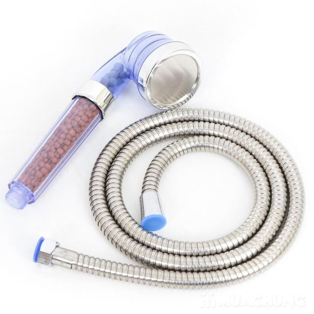 Vòi sen tăng áp, điều chỉnh mức nước kèm dây dẫn - 5