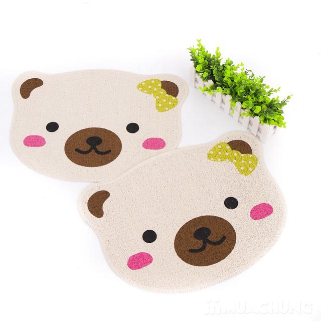 Combo 2 thảm lau chân Carmi hình gấu xinh xắn - 2