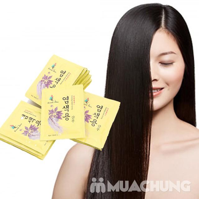 20 gói dầu gội đen tóc thảo dược - NK Hàn Quốc - 9