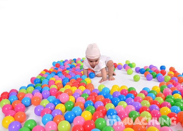 100 quả bóng nhựa nhiều màu sắc cho bé vui chơi - 1