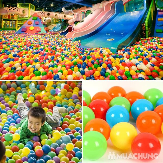 100 quả bóng nhựa nhiều màu sắc cho bé vui chơi - 4