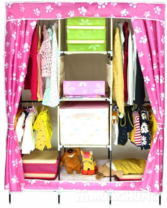 Tủ vải 3 buồng 8 ngăn hoa văn chắc chắn, tiện dụng - 9