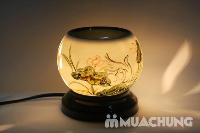 Đèn xông tinh dầu cắm điện- sứ Bát Tràng cao cấp - 8