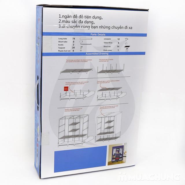 Tủ vải 3 buồng 8 ngăn hoa văn chắc chắn, tiện dụng - 4