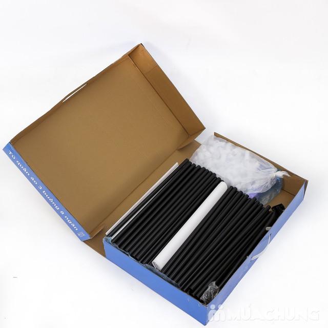 Tủ vải 3 buồng 8 ngăn hoa văn chắc chắn, tiện dụng - 11