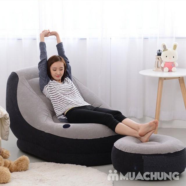 Bộ ghế hơi tựa lưng Intex + bơm điện tiện ích - 6