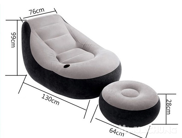 Bộ ghế hơi tựa lưng Intex + bơm điện tiện ích - 11