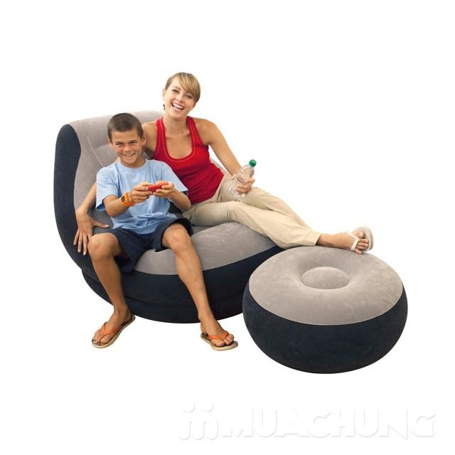 Bộ ghế hơi tựa lưng Intex + bơm điện tiện ích - 7