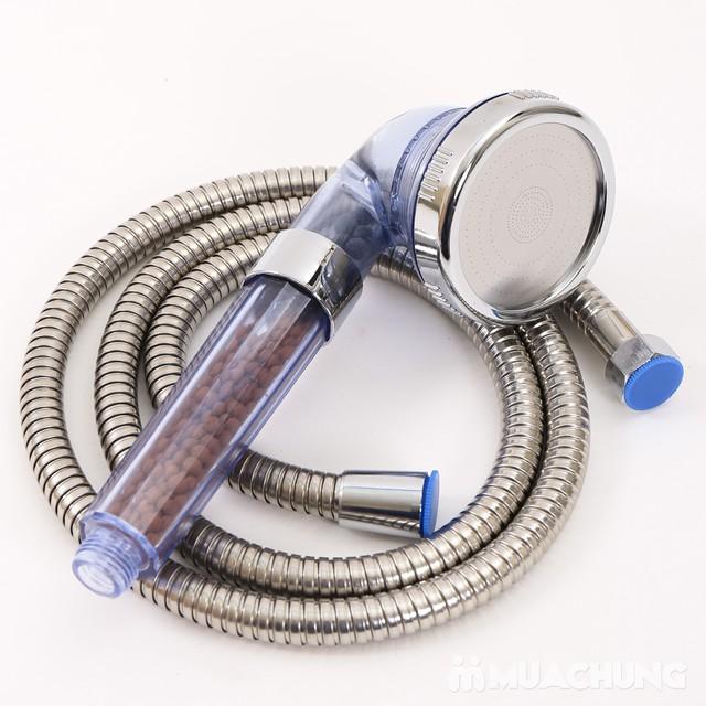 Vòi sen tăng áp, điều chỉnh mức nước kèm dây dẫn - 1