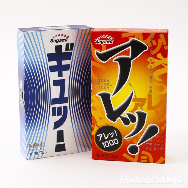 2 hộp bao cao su Sagami Tight Fit, AreAre 10 Japan - 6
