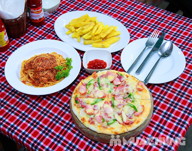 Set Pizza, Mỳ Ý kèm khoai tây chiên cho 2 người - Pizza Hoa Ý - 3