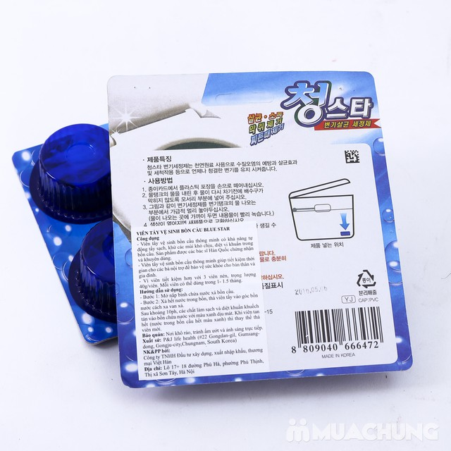 Combo 6 viên tẩy vệ sinh bồn cầu Blue Star - 8