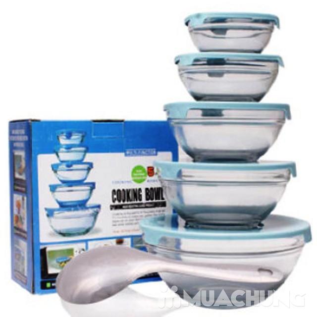 Bộ 5 bát thủy tinh Cooking Bowl - 4