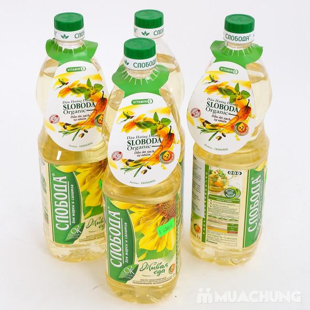 Combo 4 chai dầu hướng dương Organic Sloboda - 11