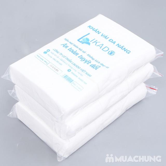 3 bịch khăn vải khô mềm mại, an toàn cho da - 5