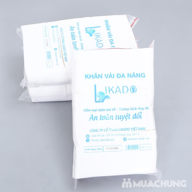 3 bịch khăn vải khô mềm mại, an toàn cho da - 6