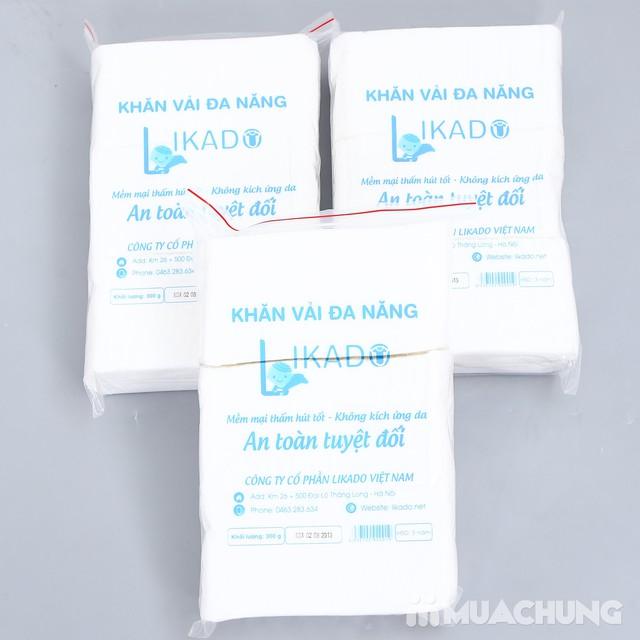 3 bịch khăn vải khô mềm mại, an toàn cho da - 4