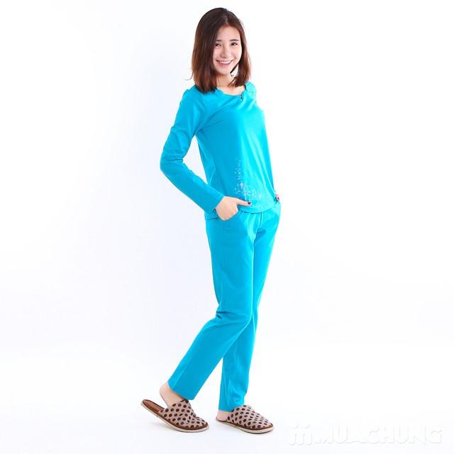 Bộ mặc nhà 100% cotton cổ V cách điệu - 4